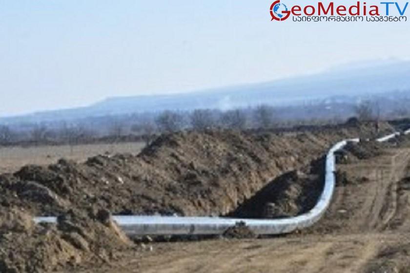 """კახეთის მაგისტრალური გაზსადენის """"თელავი-ახმეტის"""" მშენებლობა დასრულდა"""