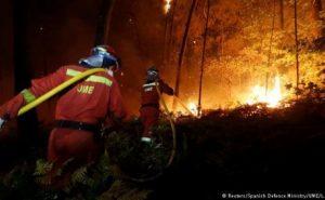 ესპანეთსა და პორტუგალიაში ტყის ხანძრებს 35 ადამიანის სიცოცხლე ემსხვერპლა