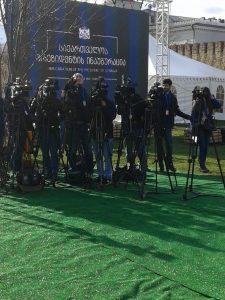 ჟურნალისტები ინაუგურაციაზე – ფოტორეპორტაჟი