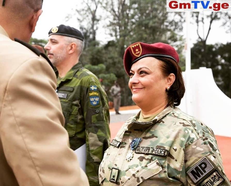 პირველი ქართველი სამხედრო პოლიციელი ქალი აფრიკის მისიიდან და განსაკუთრებული მედალი